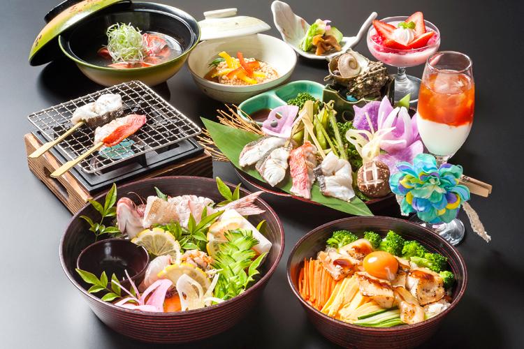 Tateyama Broiled Seafood Donburi (Rice Bowl)